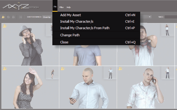 How to Install Characters and Assets « docs axyz-design com